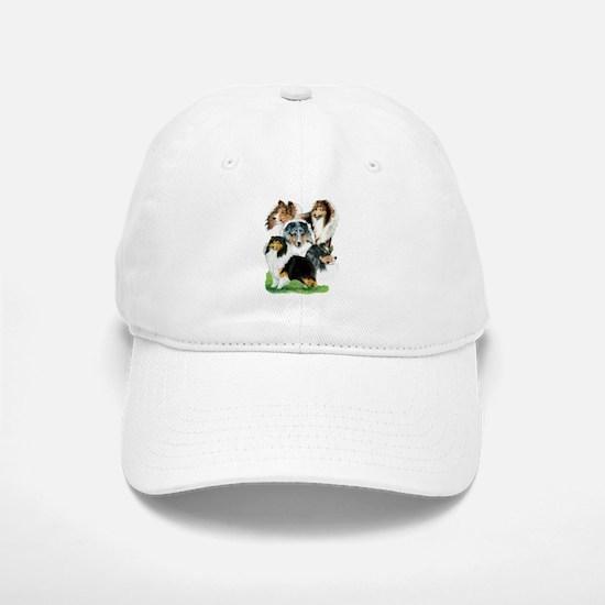 Sheltie Group Baseball Baseball Cap