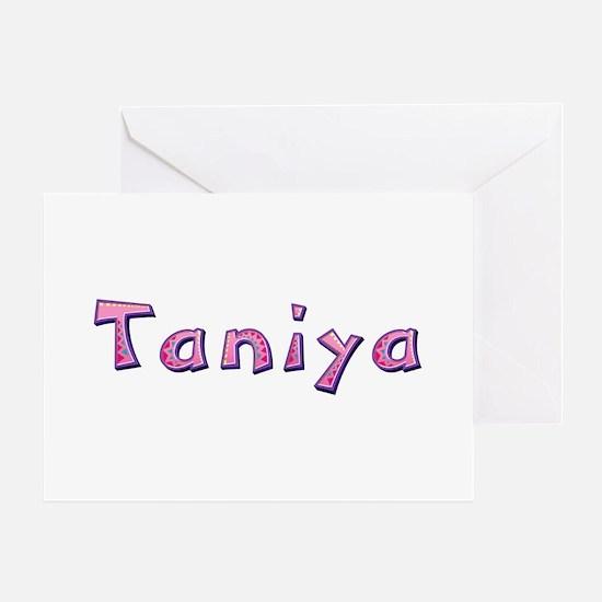 Taniya Pink Giraffe Greeting Card