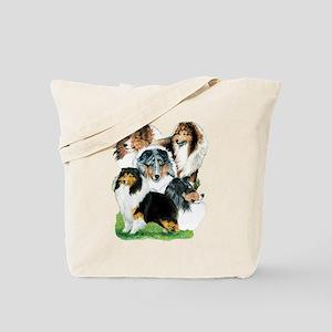 Sheltie Group Tote Bag