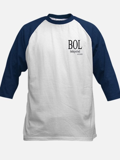 Dog Saying BOL Kids Baseball Jersey