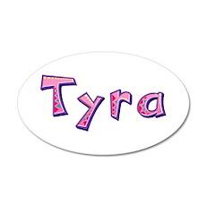 Tyra Pink Giraffe Wall Decal