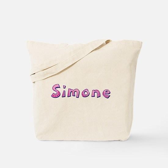 Simone Pink Giraffe Tote Bag