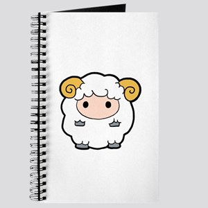 Sheep Dark Background Journal