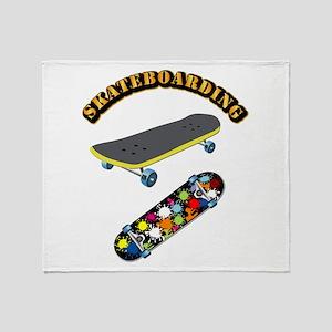 Skateboard - Skateboarding Throw Blanket