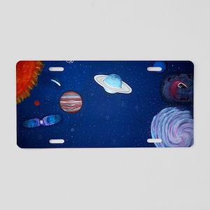 Night Sky Mural Aluminum License Plate