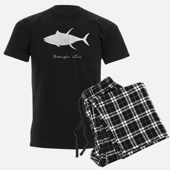 yellowfin tuna with text WHITE ON CLEAR Pajamas