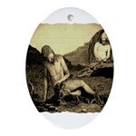 Suffering Of Gods Servant Job Ornament (Oval)