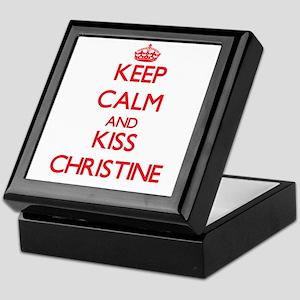 Keep Calm and Kiss Christine Keepsake Box