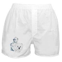 Westie Pair Boxer Shorts