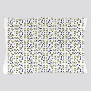 blueberries on vine repeat pattern Pillow Case