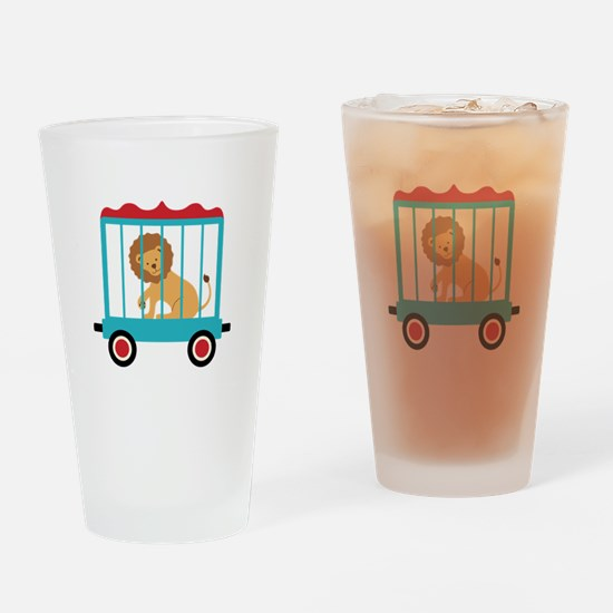Circus Train Lion Cage Drinking Glass