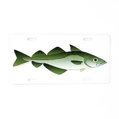 Pollock Aluminum License Plate
