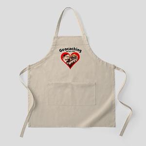Geocaching Heart BBQ Apron