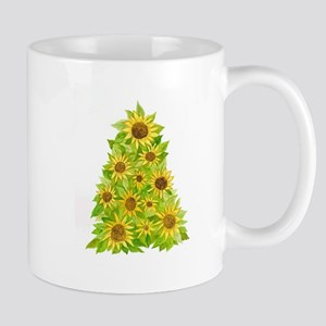 Sunflower Christmas Tree Mugs