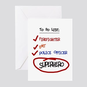Superhero To Do List Greeting Cards (Pk of 10)