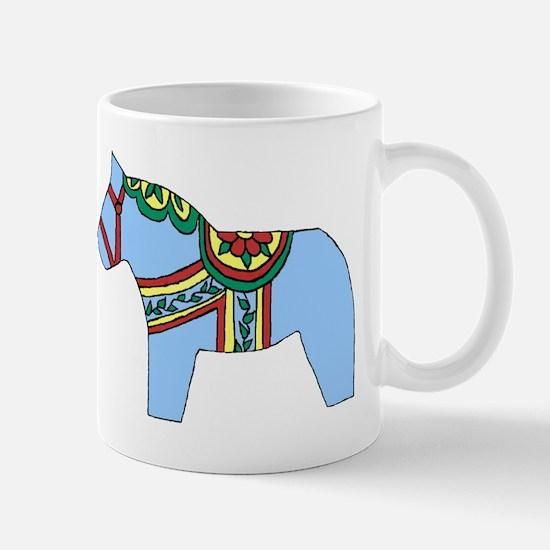 Blue Dala Horse Mug
