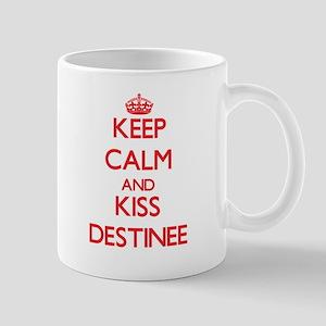 Keep Calm and Kiss Destinee Mugs
