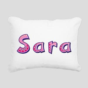 Sara Pink Giraffe Rectangular Canvas Pillow