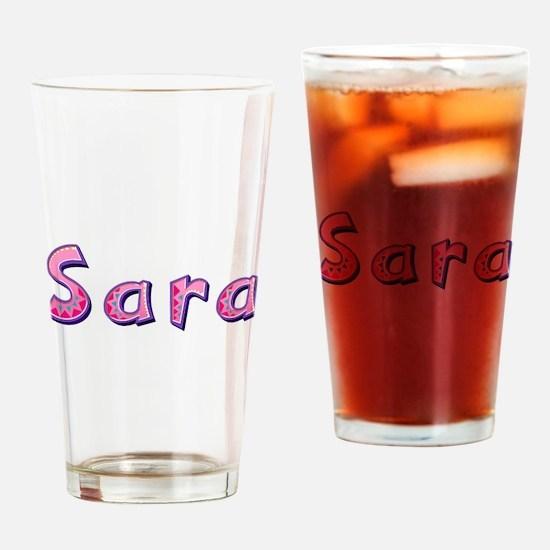 Sara Pink Giraffe Drinking Glass