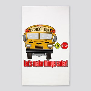 Safer school bus 3'x5' Area Rug