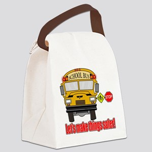 Safer school bus Canvas Lunch Bag