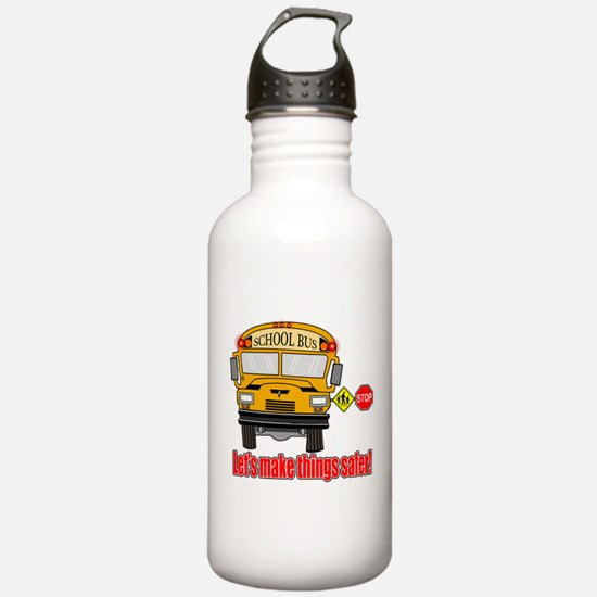 Safer school bus Water Bottle