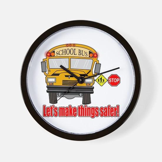 Safer school bus Wall Clock