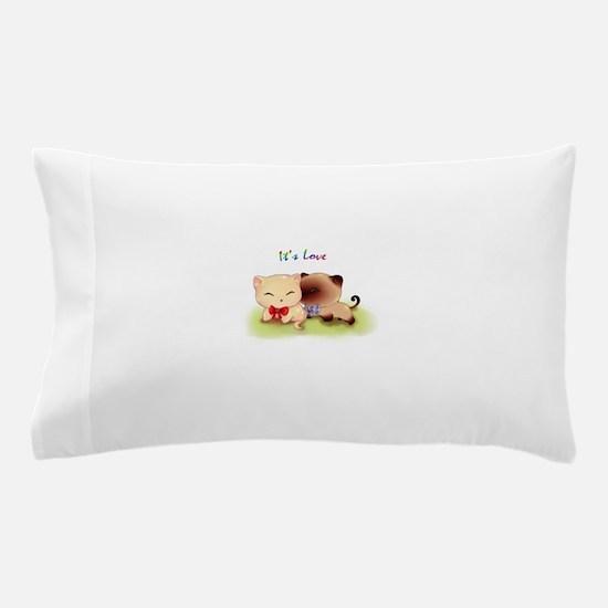 It's Love Cat Pillow Case