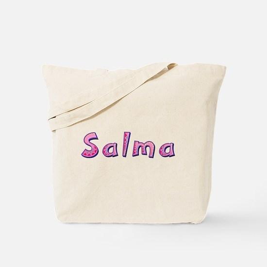 Salma Pink Giraffe Tote Bag