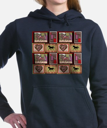 Dressage Horses Equestrian repeat pattern Hooded S