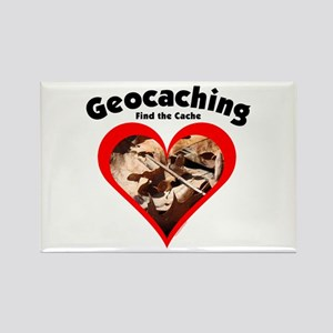 Geocaching Heart Rectangle Magnet