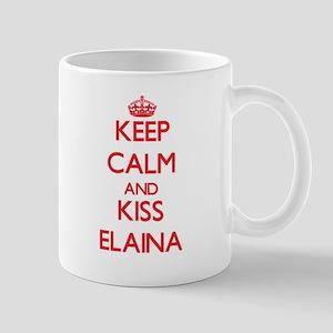 Keep Calm and Kiss Elaina Mugs