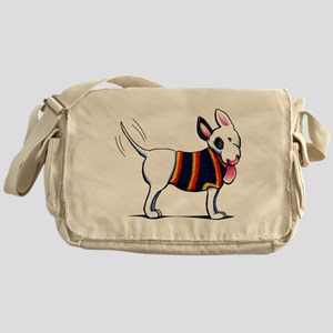Bull Terrier Blue Messenger Bag