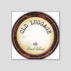 """Old Luggage"" Disc Design Square Sticker 3"" x 3"""