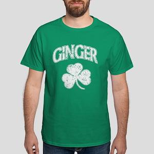 Ginger Shamrock Dark St Patricks tshirt T-Shirt