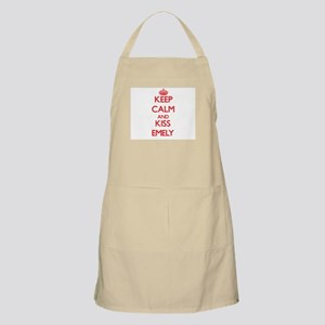 Keep Calm and Kiss Emely Apron