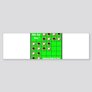 SIX BY SIX GAME PUZZLES Bumper Sticker