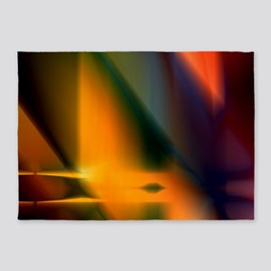 Abstract Art and Design 5'x7'Area Rug
