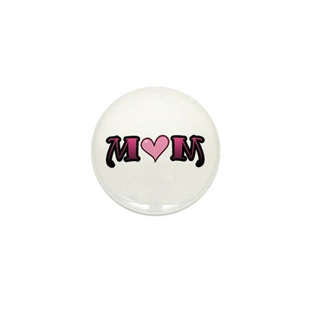 Tattoo Mom Pink Heart Mother's Mini Button (10 pac