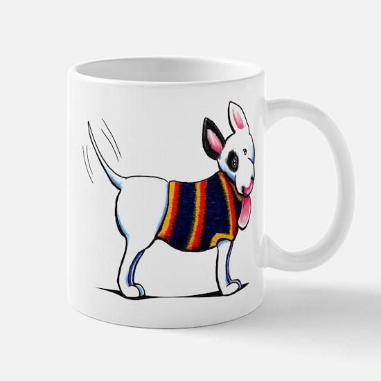 Bull Terrier Blue Mugs