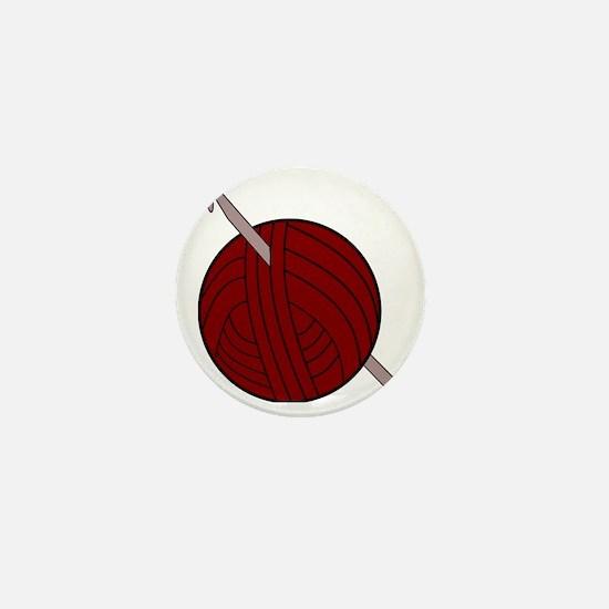 Yarn and Hook Mini Button