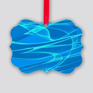 Blue Background Art Picture Ornament