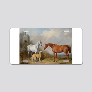 Two Horses and a Deerhound Aluminum License Plate
