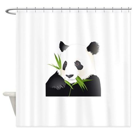 Panda Bear Shower Curtain By Bonfiredesigns