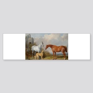 Two Horses and a Deerhound Bumper Sticker