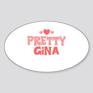 Gina Oval Sticker