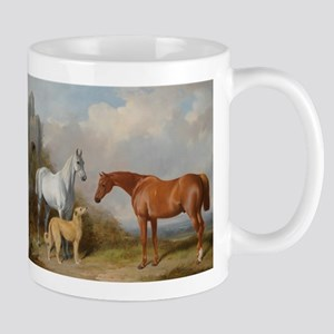 Two Horses and a Deerhound Mugs