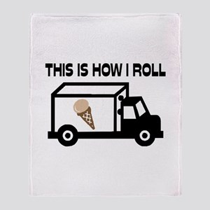 This Is How I Roll Ice Cream Truck Throw Blanket