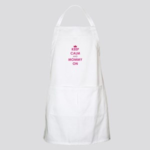 Keep Calm and Mommy On pink Apron