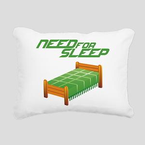 Need for Sleep Rectangular Canvas Pillow
